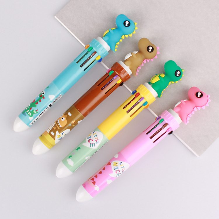 Cute Wooden Cartoon Animal Head Ballpoint Pen KeyChain Mobile Chain Ball Pen